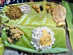 お祭りの日に主人の母が作った南インドの伝統食