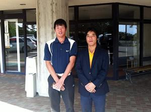 齋藤主将(左)、大沼選手(右)