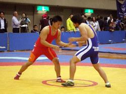 永井選手(左)