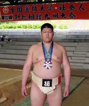 初の栄冠を手にした黒川選手
