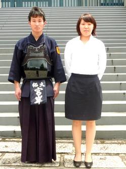 宮岸選手(左)、池田選手(右)