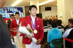 ロンドンオリンピック メダリストの先輩が紅陵祭で、凱旋報告