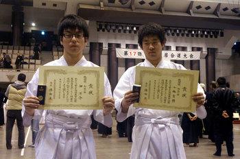 佃選手(左)、小林選手(右)