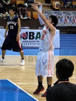長谷川選手のフリースロー