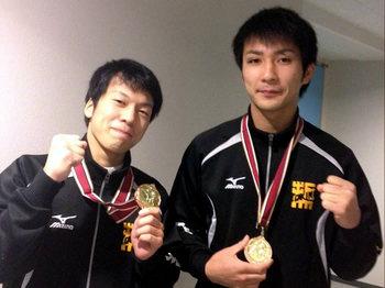 野邊選手(左)、齋藤選手(右)