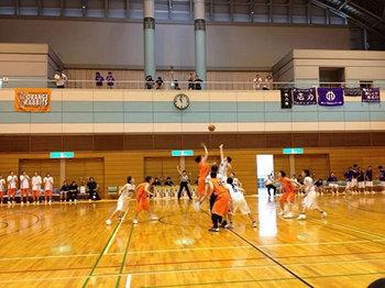 順天堂大学戦のトスアップ