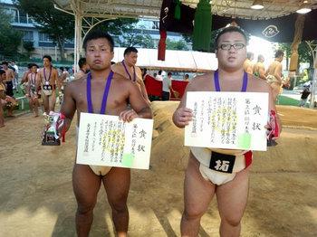 中山選手 金子選手(右)