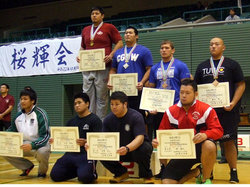 園田選手(後列右側)