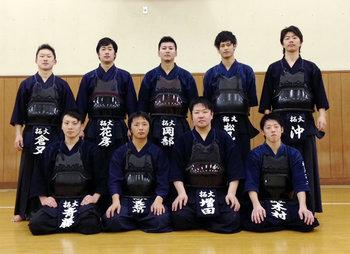 剣道部 関東学生新人戦大会 出場メンバー
