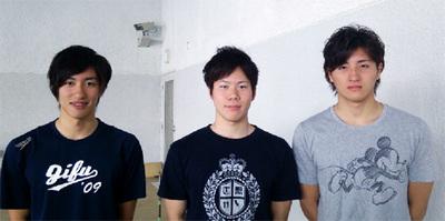 左から:高島選手・塩谷選手・山本選手