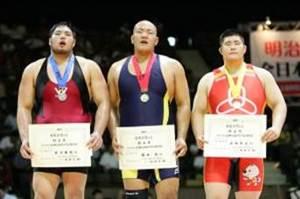 表彰台中央:園田選手